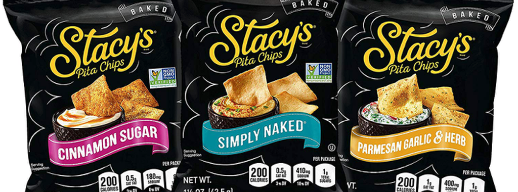 Three packages of Stacy's Pita Chips