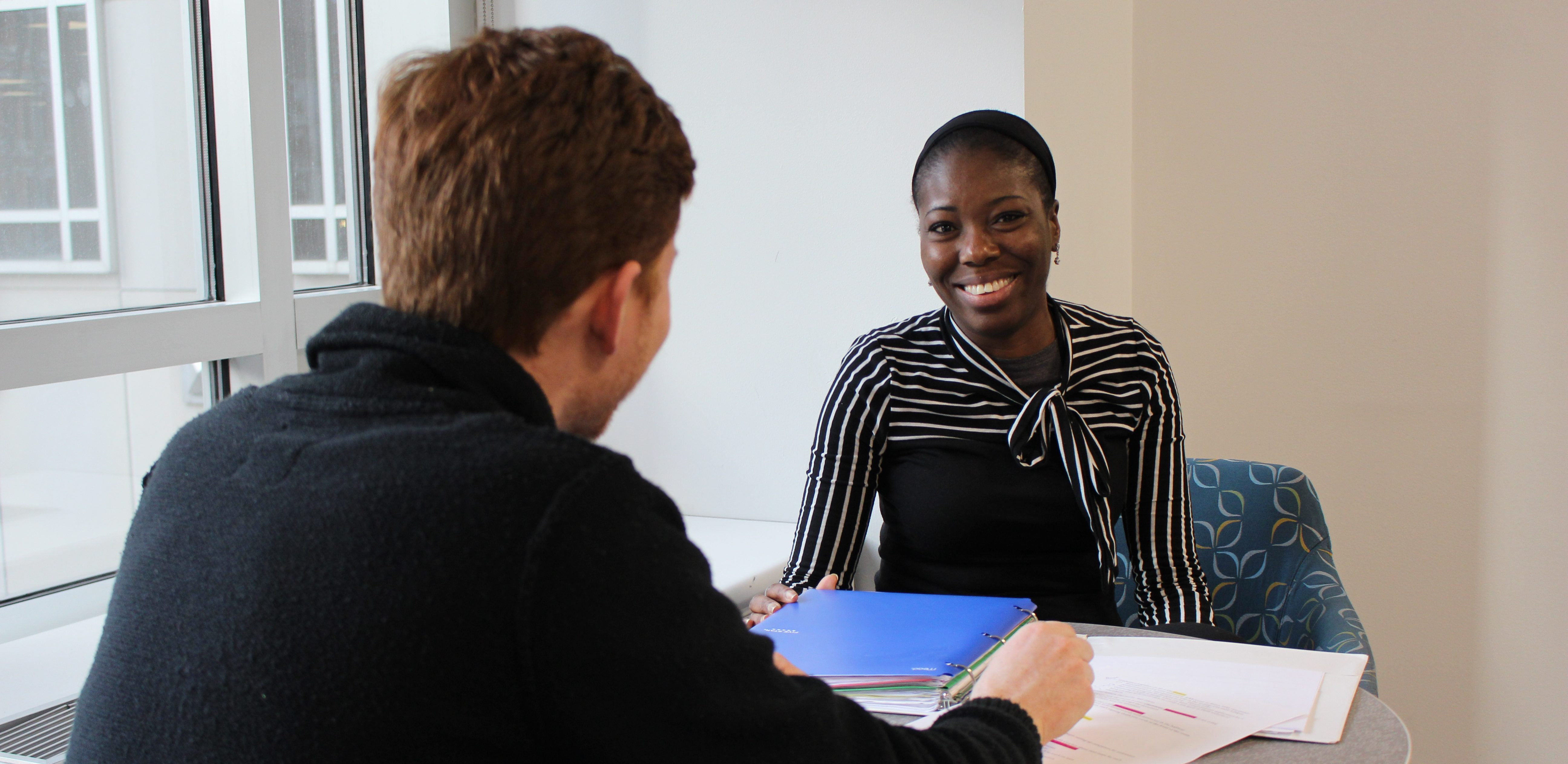 JVS student with a career coach