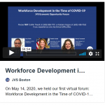 Workforce Development in the Time of COVID-19