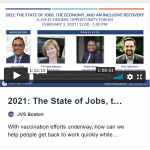 2021: The State of Jobs, the Economy and Inclusive Recovery